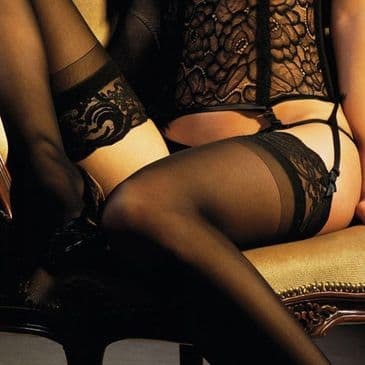 Charnos Boudoir Lace Top Stockings